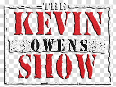 Kevin Owens The Kevin Owens Show Logo transparent background.