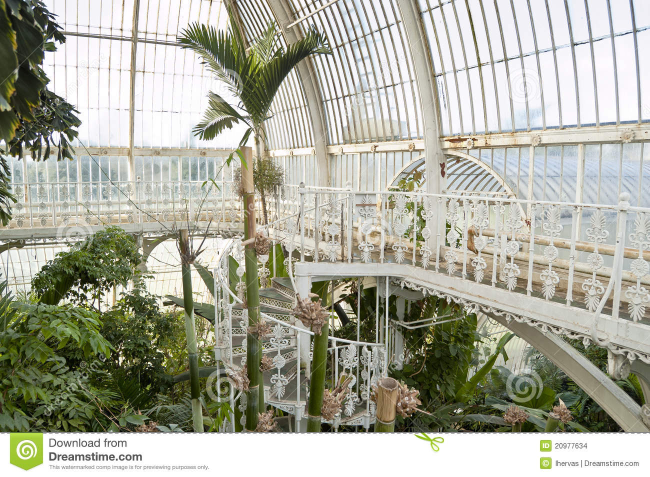 Palm House, Kew Gardens, London Stock Images.