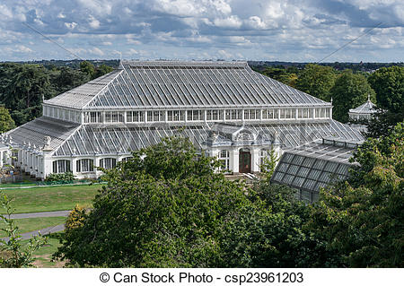 Stock Photography of The Temperate House at Kew Gardens.