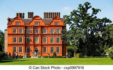 Stock Image of Kew Gardens Mansion.