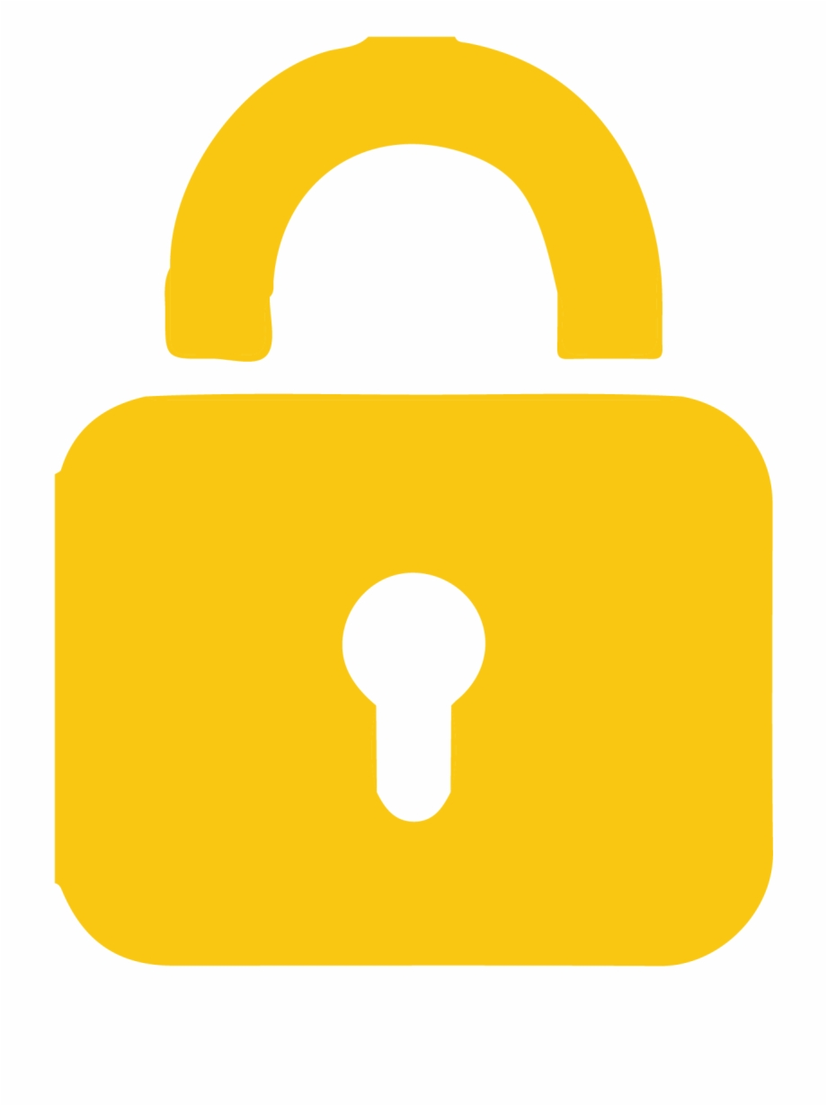 Add Lock Key Yellow Lock Png.