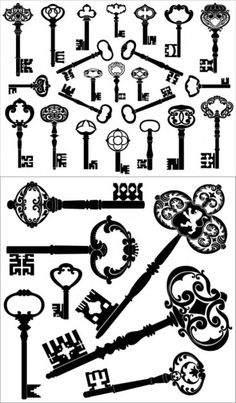 skeleton key tattoo.