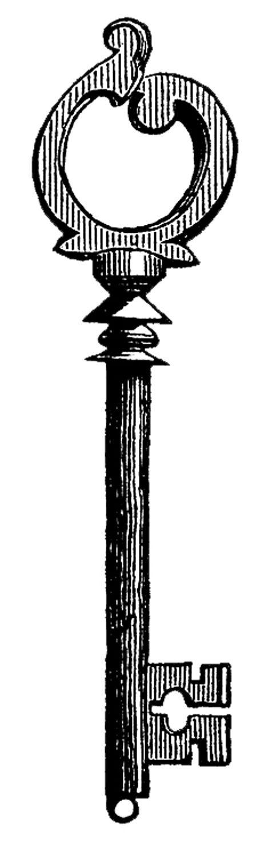 Graphics Fairy, Skeleton Key Clip Art, print as architectural.