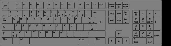 Computer Keyboard Layout De Clip Art at Clker.com.
