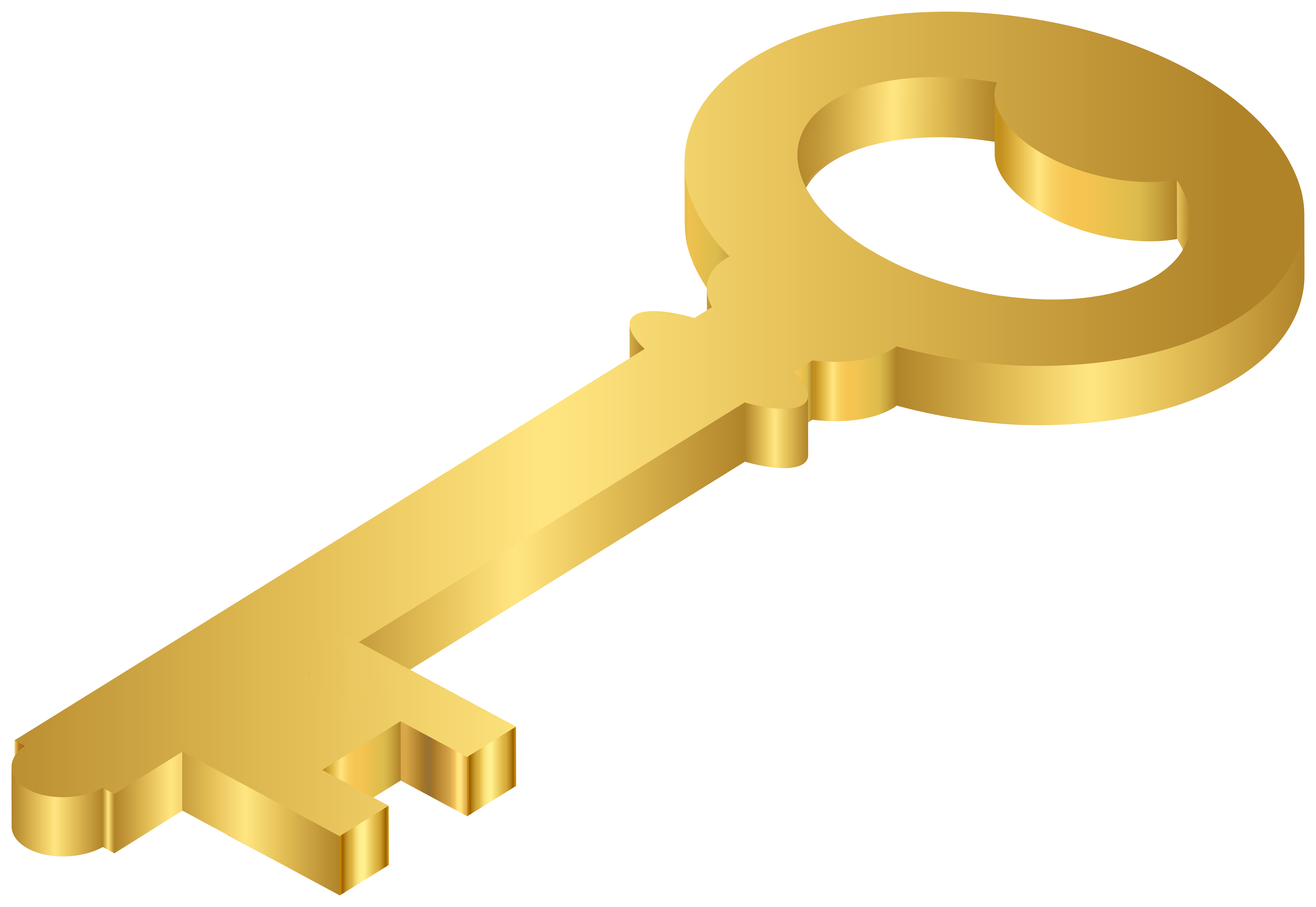 Gold Key PNG Clipart.