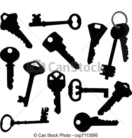 Clipart Vector of Keys collection.