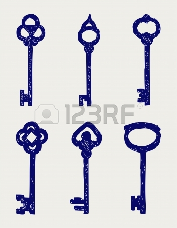 Antique Key Clip Art.