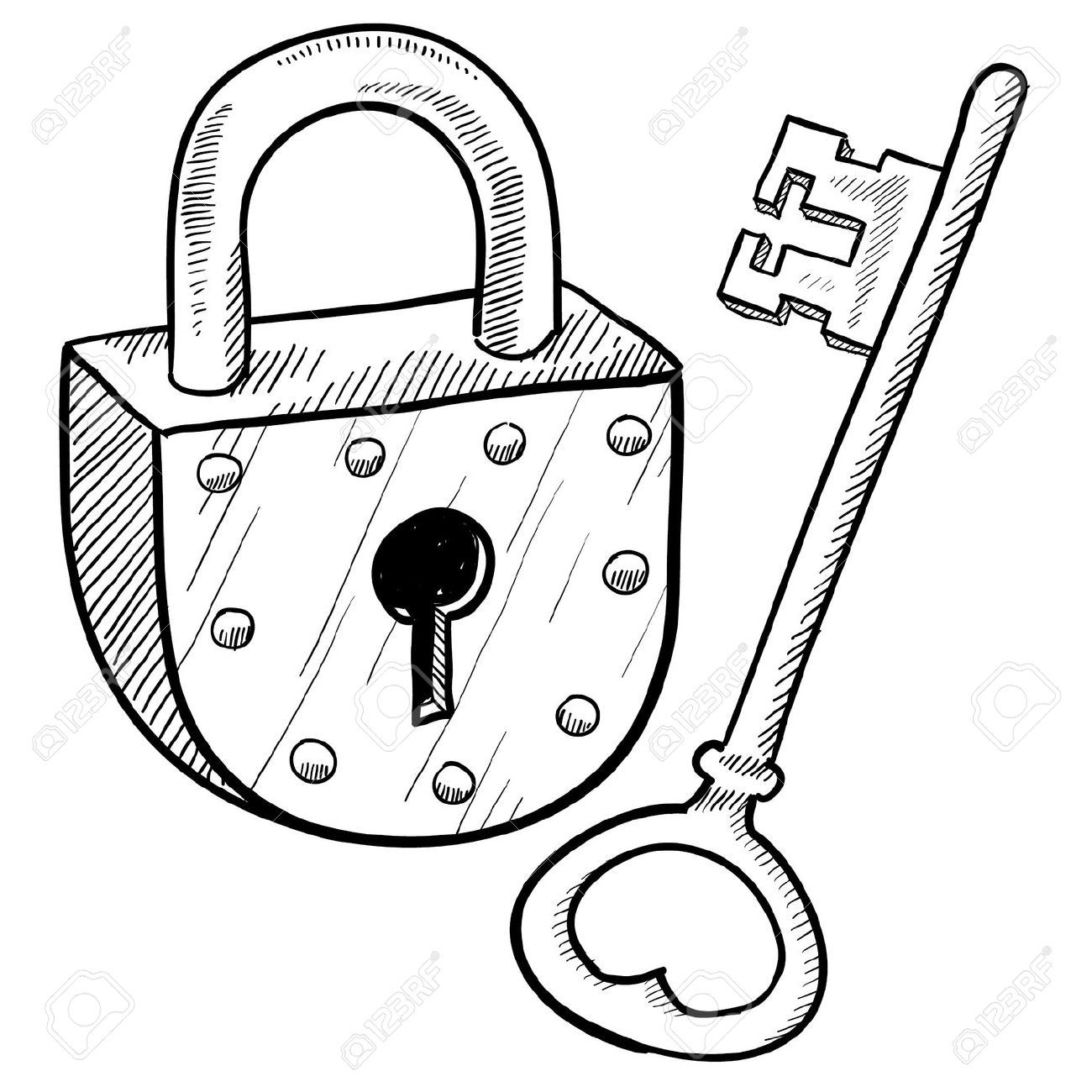 Padlock Stock Illustrations, Cliparts And Royalty Free.