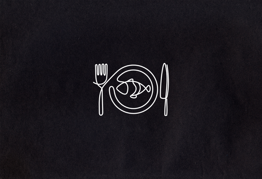 Simplicity is key to a restaurant logo that looks good on.