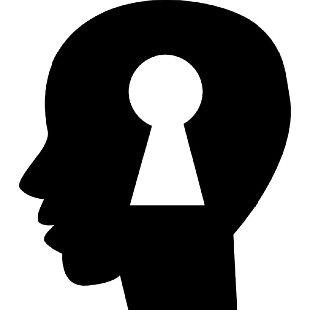 Keyhole silhouette Icons.
