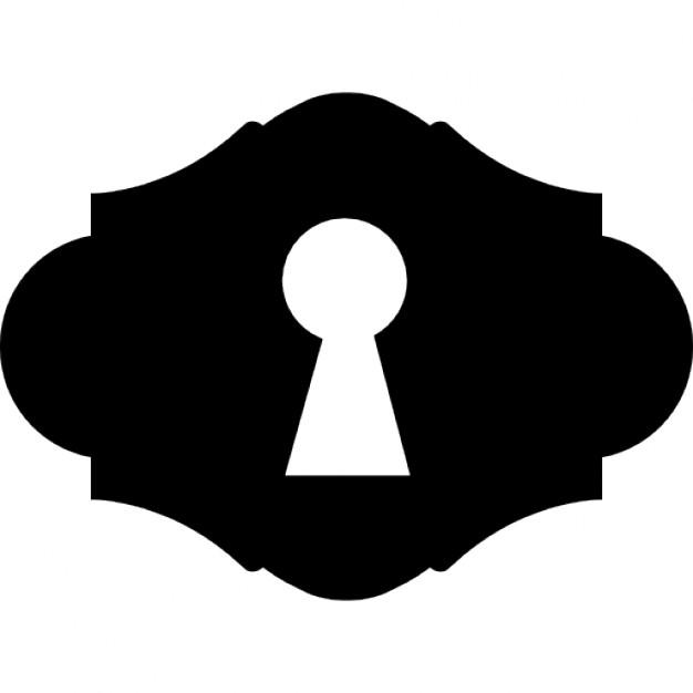 Key hole shape Icons.