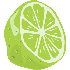 Royality free clipart of limes.