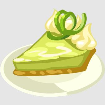 Key Lime Pie Clipart.