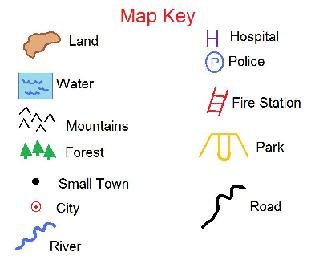 Map key clipart.