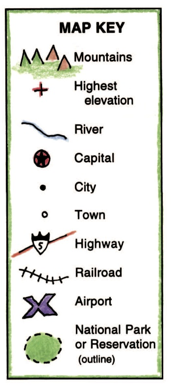 Symbols in a Map Key.