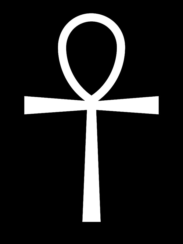 ANKH, KEY, Symbol of life, Key of the Nile, Egypt, Egyptian, White.