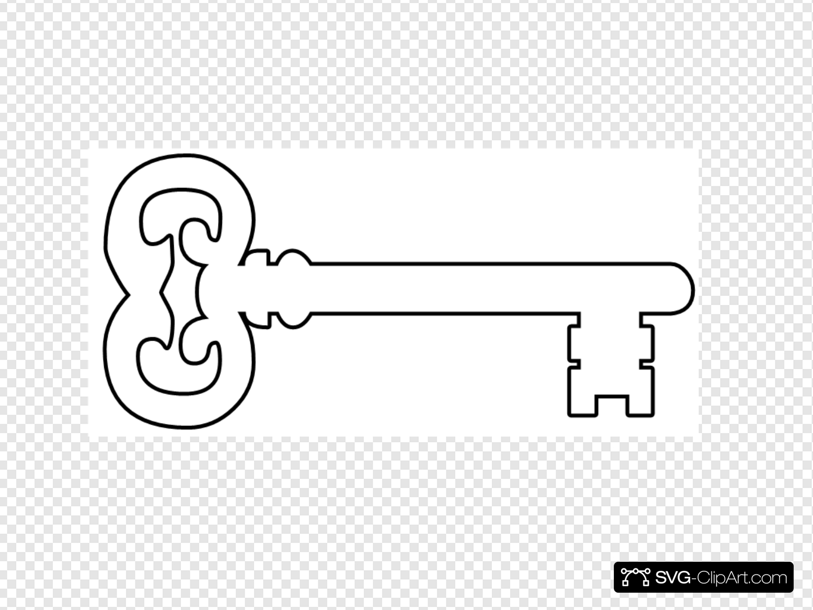 Key Outline Clip art, Icon and SVG.