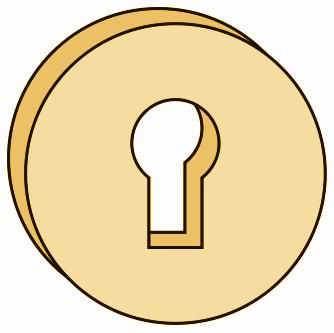 Key hole clipart.