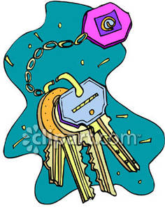 Free key ring and keys clipart.