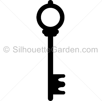 Skeleton Key Silhouette.