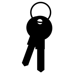 Keys Silhouette clipart, cliparts of Keys Silhouette free.