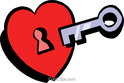 key to my heart Royalty Free Vector Clip Art illustration.