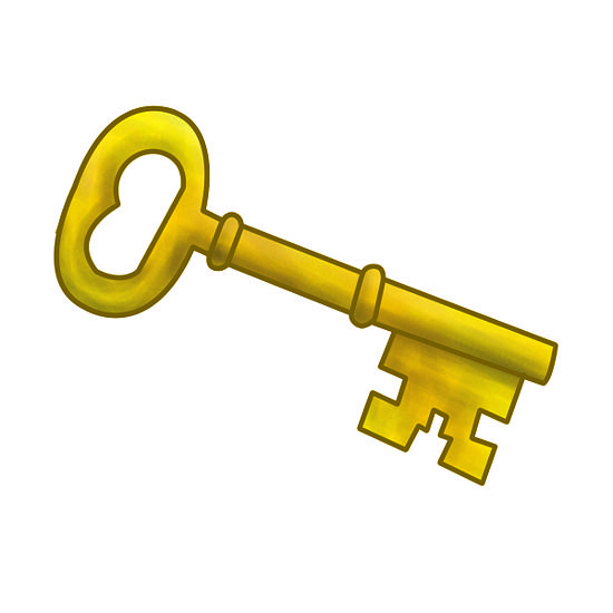 Red key to success clipart.