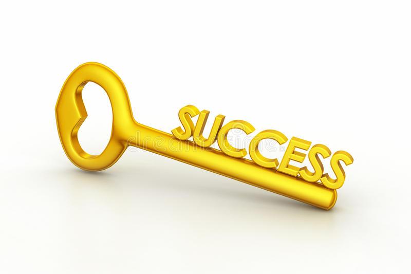 Golden Key To Success Stock Illustrations.