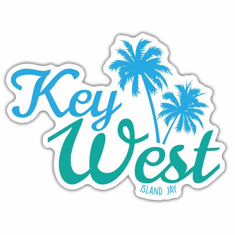 Key West Palm Tree Die Cut Beach Sticker.