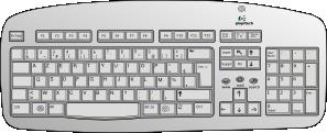 Keyboard clip art Free Vector / 4Vector.