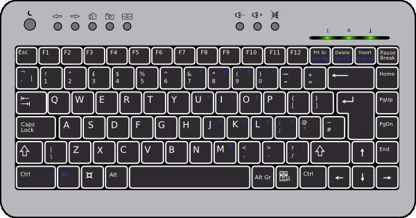 Computer Keyboard Clipart.