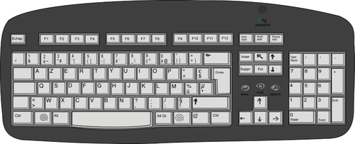6668 computer keyboard clipart for kids.