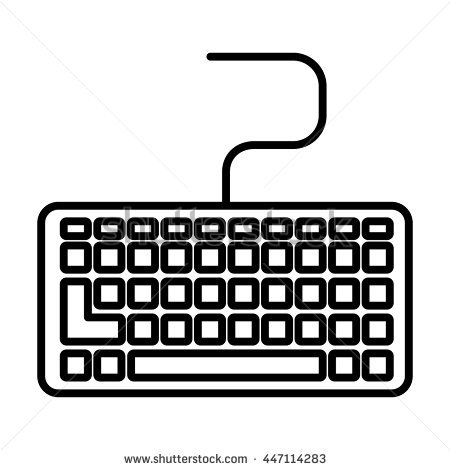 Keyboard clipart black and white 1 » Clipart Station.