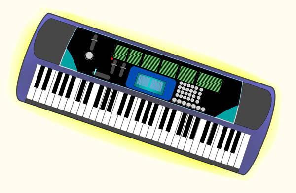 Music Keyboard Clipart.