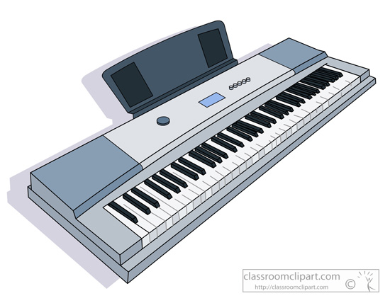 Electronic Keyboard Musical Instrument Clipart.