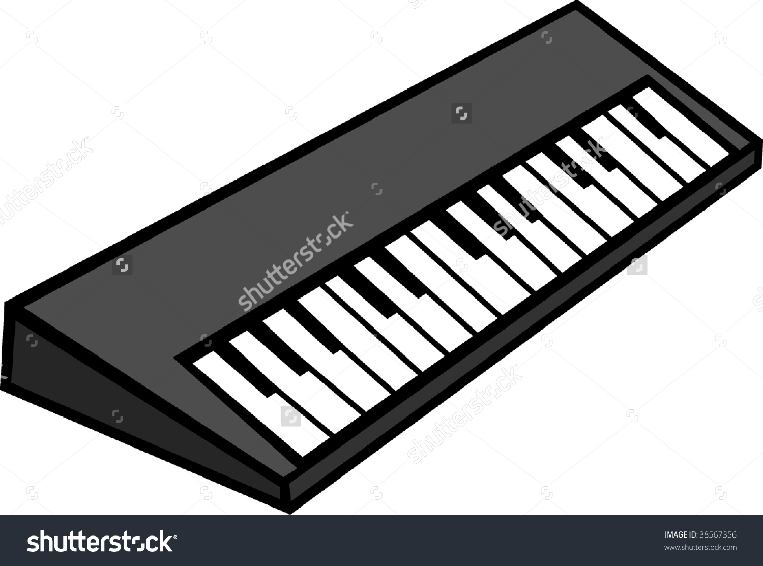 Electronic Musical Keyboard Synthesizer Stock Vector 38567356.