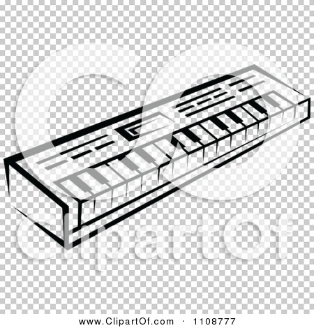Clipart Black And White Keyboard Musical Instrument.