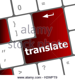 Spanish Keyboard With Language Translate Concept Icon Over Blue.