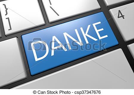 Stock Illustrations of Thank you on German language.