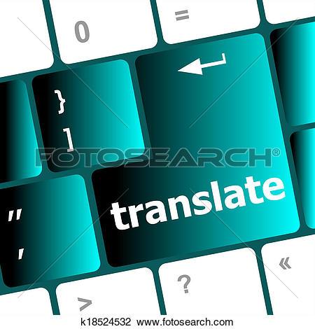 Stock Photo of Multilingual translation on.