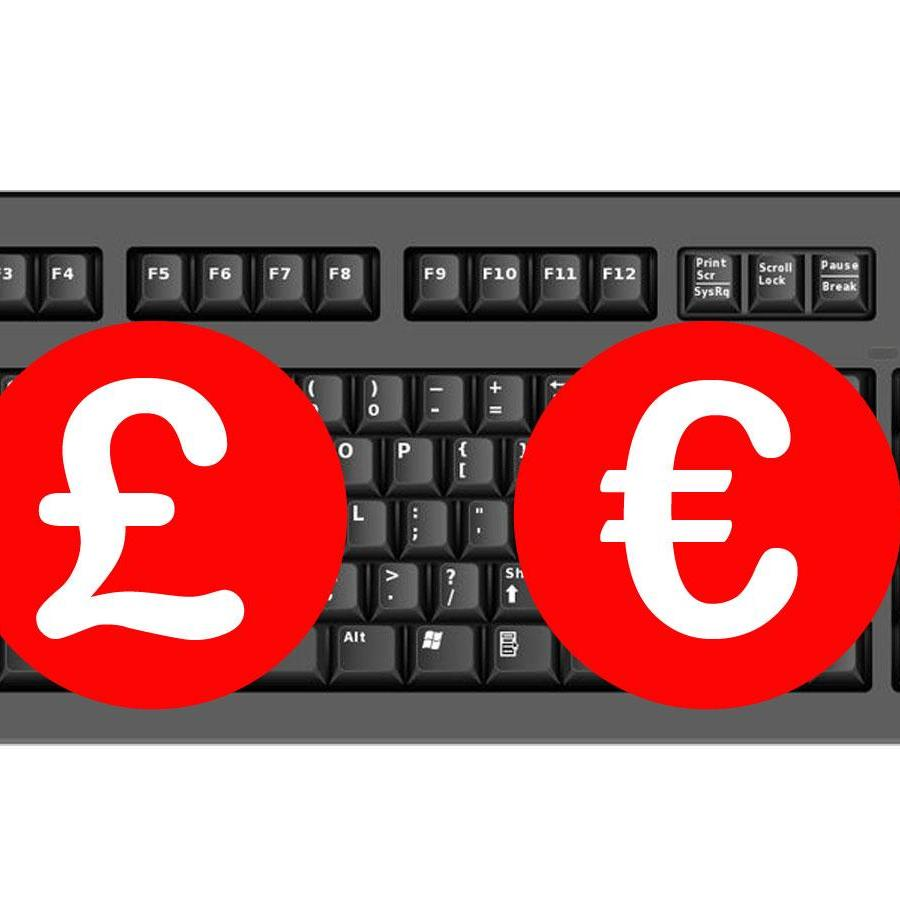 How to Get a £ Sign or € Symbol on Any Keyboard.