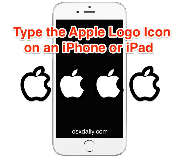 Type the Apple Logo Icon on iPhone or iPad with Keyboard.