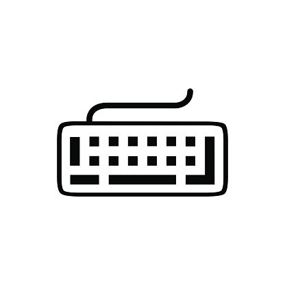 keyboard icon stock vector illustration flat design Clipart.