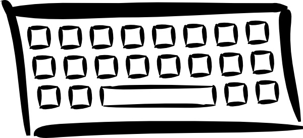 Minimalist Keyboard clip art Free vector in Open office drawing.