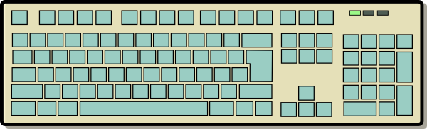 Computer Keyboard Clip Art at Clker.com.