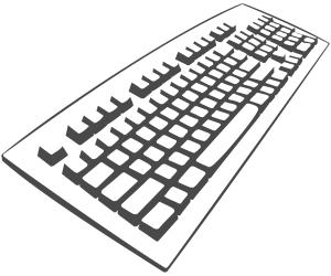 Keyboard Angled Outline Clip Art Download.