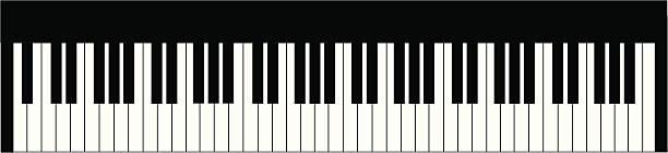 Best Piano Keyboard Illustrations, Royalty.