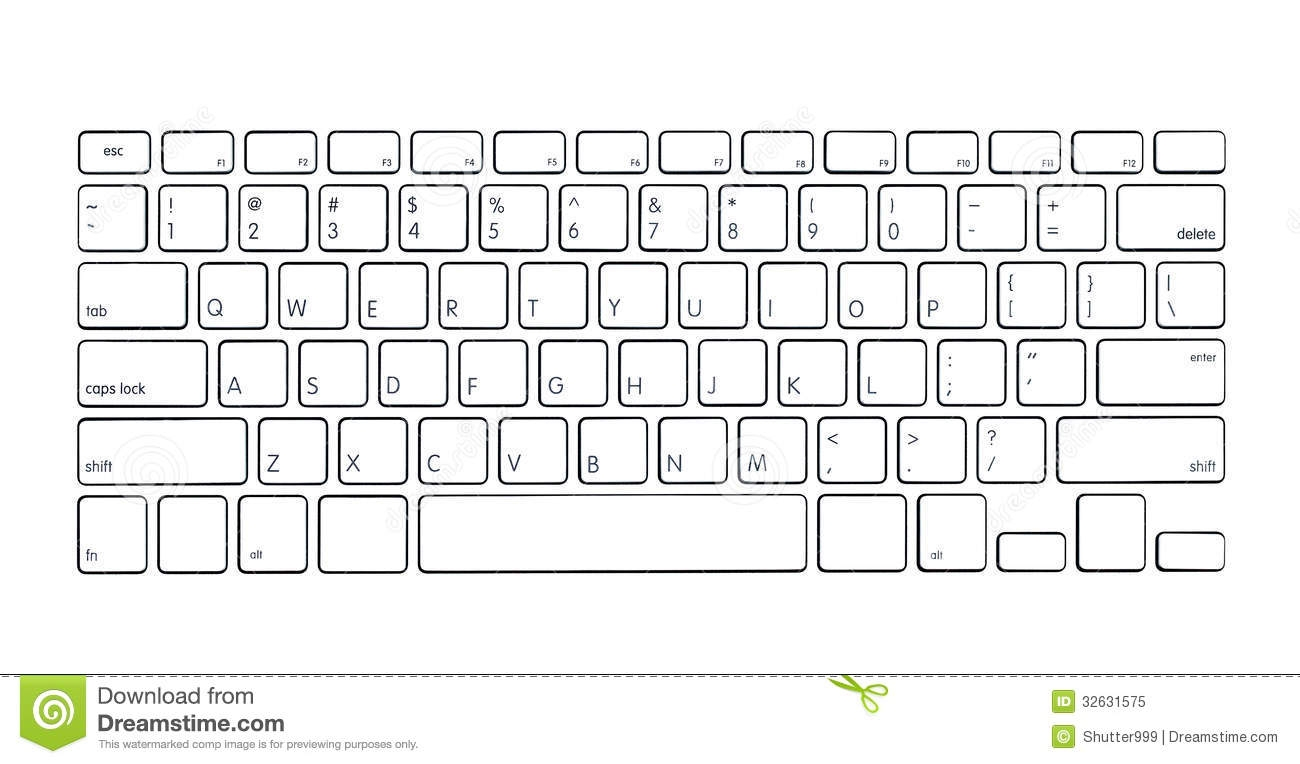 Computer keyboard clipart for kids.