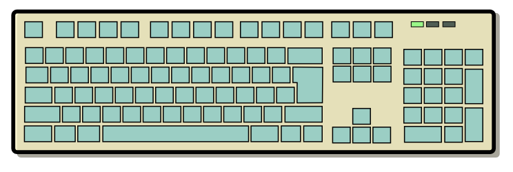 Free Keyboard Clipart, 1 page of Public Domain Clip Art.