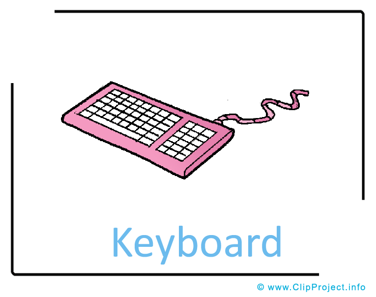 Keyboard Clipart Image free.